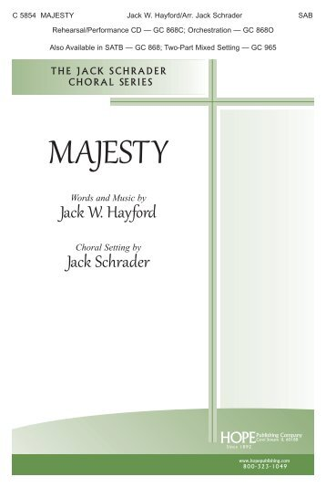 MAJESTY - Hope Publishing Company