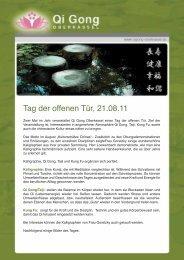 Tag der offenen Tür, 21.08.11 - Qi Gong Oberkassel