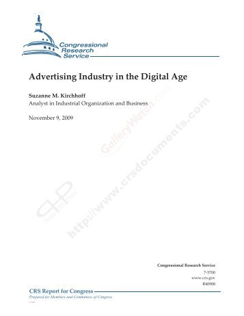 Advertising Industry in the Digital Age - Pierce Law Center IP Mall