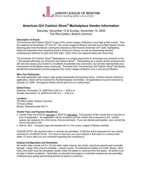 Miraculous American Girl Fashion Show Marketplace Vendor Information Machost Co Dining Chair Design Ideas Machostcouk