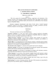 1.1. Introductory regulations Objectives of the Law ... - Bosna RE