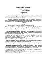 Zakon o društvima za osiguranje RS 2005 - Bosna RE
