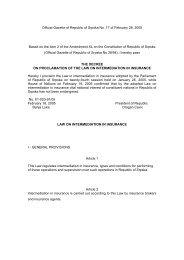 Official Gazette of Republic of Srpska No. 17 of February ... - Bosna RE