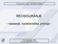 reosiguranje 2010 - Bosna RE