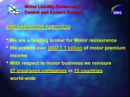 Motor Liability Reinsurance Central and Eastern Europe ... - Bosna RE