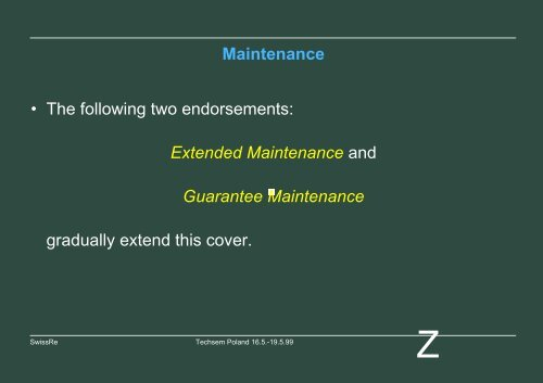 Maintenance Covers - Bosna RE