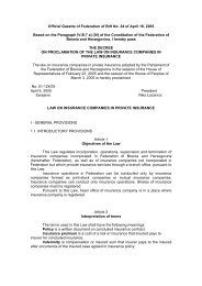 Official Gazette of Federation of BiH No. 24 of April 18 ... - Bosna RE