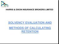 Solvency & Retention - Bosna RE