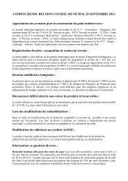 lire le compte rendu reunion conseil municipal - Saint Sauveur de ...