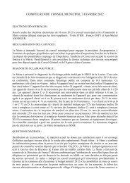 compte rendu conseil municipal 3 fevrier 2012 - Saint Sauveur de ...