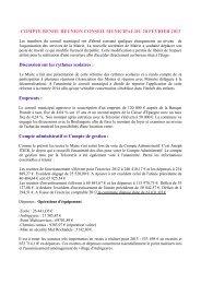 compte rendu reunion conseil municipal - Saint Sauveur de Peyre