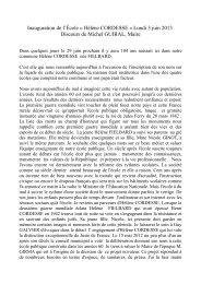 lire le discours du Maire - Saint Sauveur de Peyre