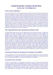 COMPTE RENDU CONSEIL MUNICIPAL - Saint Sauveur de Peyre