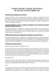 voir le compte rendu du conseil municipal - Saint Sauveur de Peyre