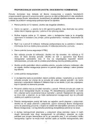 pravila proporcionalnih ponuda - Bosna RE