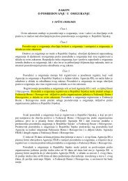 Zakon o posredovanju u osiguranju RS 2005 - Bosna RE