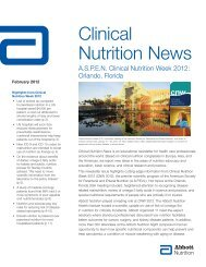 Clinical Nutrition News - Abbott Nutrition