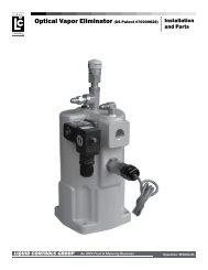 Optical Vapor Eliminator (US Patent #70000628) - Liquid Controls