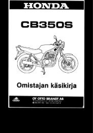 CB350S käsikirja (.pdf, 1.12 MB) - Honda