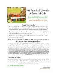 101 Practical Uses for 9 essential oils.pdf - Modern Prepper