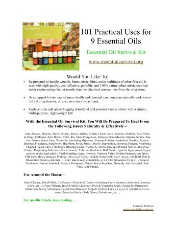 101 Practical Uses for 9 essential oils.pdf - Modern Prepper
