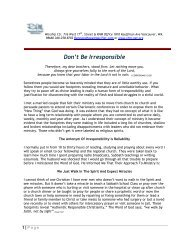 Don't Be Irresponsible - Rhm-Net.org