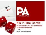 It's In The Cards: Pharmaceutical Co-pay and ... - The AIDS Institute