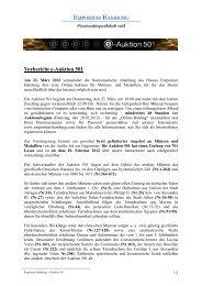 Vorbericht e-Auktion 501 - Emporium Hamburg