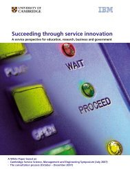 Succeeding through service innovation - Institute for Manufacturing ...
