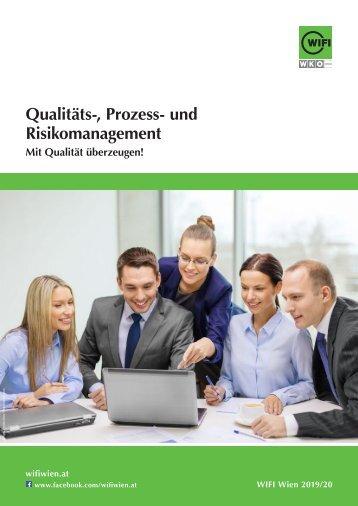 Qualitäts-, Prozess- und Risikomanagement - Ausbildungen im WIFI Wien