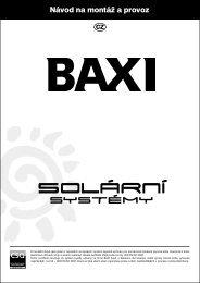 Návod na montáž a provoz - Baxi