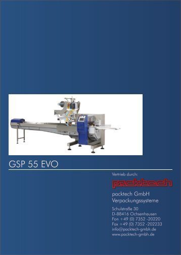 GSP55EVO GSP55EVO www.gsp.it GSP55EVO - Packtech-GmbH