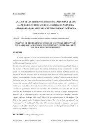análisis de los diferentes estilos de aprendizaje de los alumnos del ...