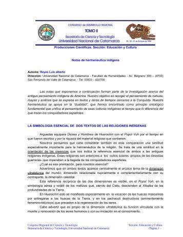 Producciones Científicas. Sección: Educación y Cultura Notas de ...