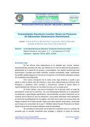 Hacia un Proyecto de Educación Alimentaria ... - Editorial Cientifica