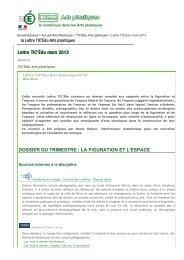 Lettre TIC'Édu mars 2013 - Arts Plastiques Hémisphère Sud