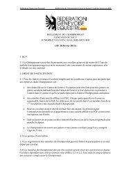 Règlement du championnat genevois FGE juniors et Jeunes ...