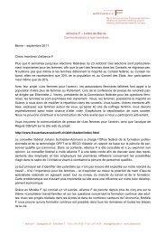 lettre de Berne septembre 2011 - alliance F