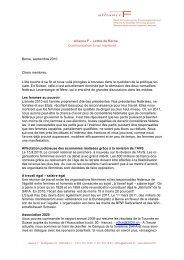lettre de Berne septembre 2010 (PDF 259kb) - alliance F