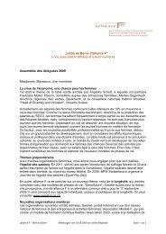 lettre de Berne juin 2009 (PDF 36kb) - alliance F