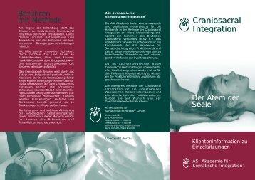 KLientenflyer - Craniosacral Integration