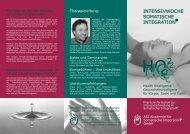ISI Flyer - Craniosacral Integration