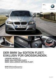 DER BMW 3er EDITION FLEET. EXKLUSIV FÜR GROSSKUNDEN.