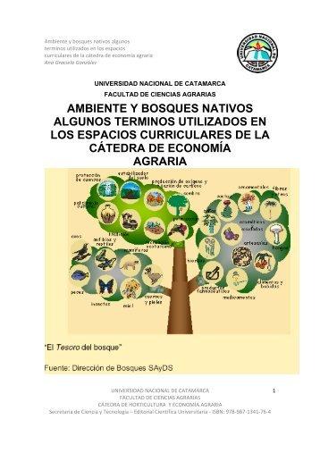 ambiente y bosques nativos - Editorial.unca.edu.ar - Universidad ...