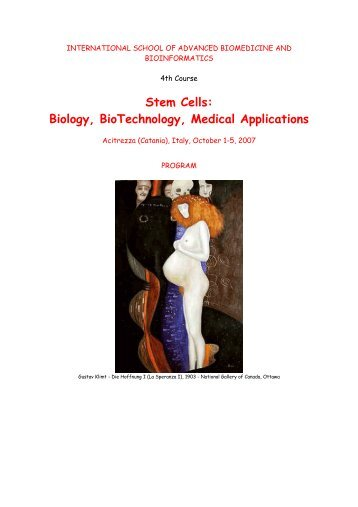 Stem Cells: Biology, BioTechnology, Medical Applications - Bgbunict.it