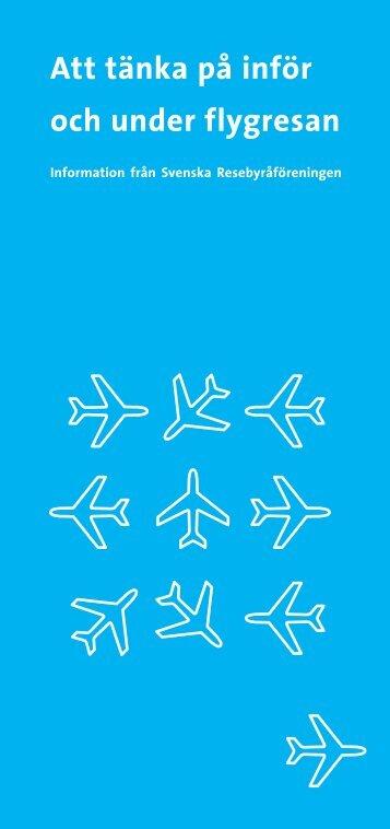 Att tänka på inför flygresan (PDF) - Getaway