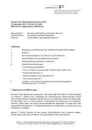 Protokoll Präsidentinnenkonferenz 2011 (pdf 197kb) - alliance F