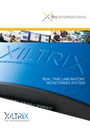 REAL TIME LABORATORY MONITORING SYSTEM - TK Biotech