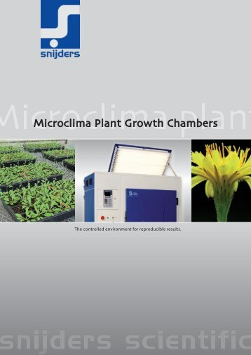 Microclima Plant Growth Chambers - Fisher UK Extranet