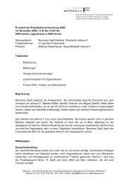 Protokoll der PK vom 18.11.2009 (pdf 84kb) - alliance F